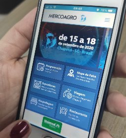 Expositores podem acessar informações por aplicativo